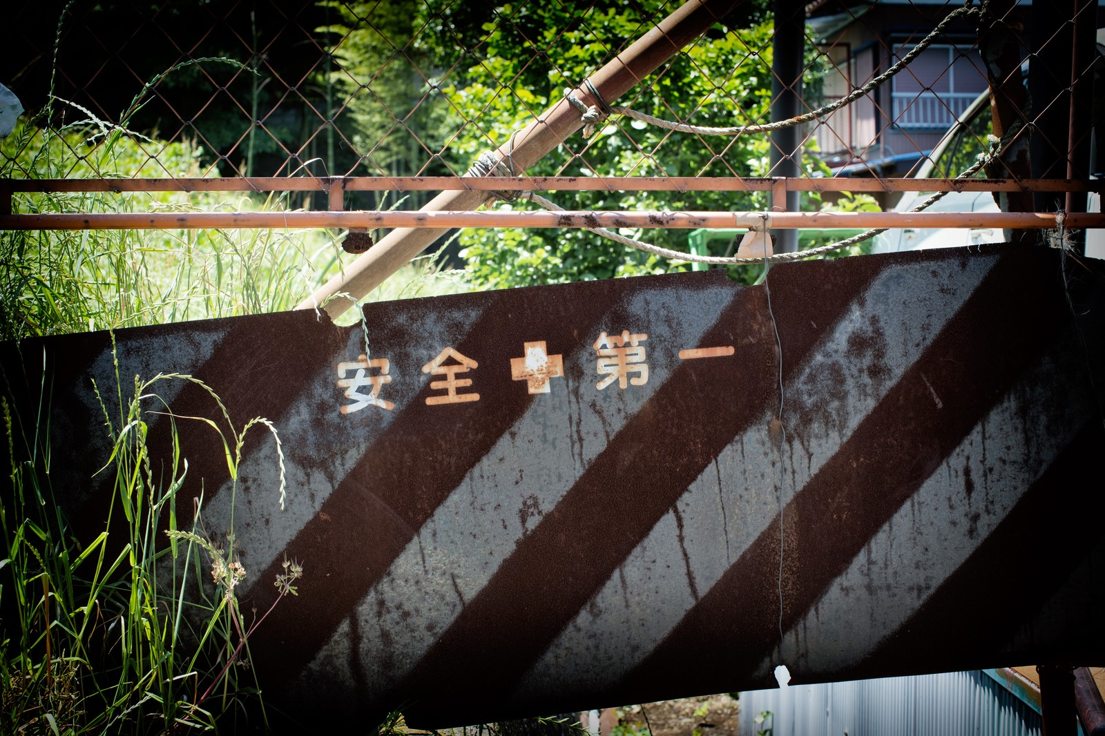 工事現場の廃墟