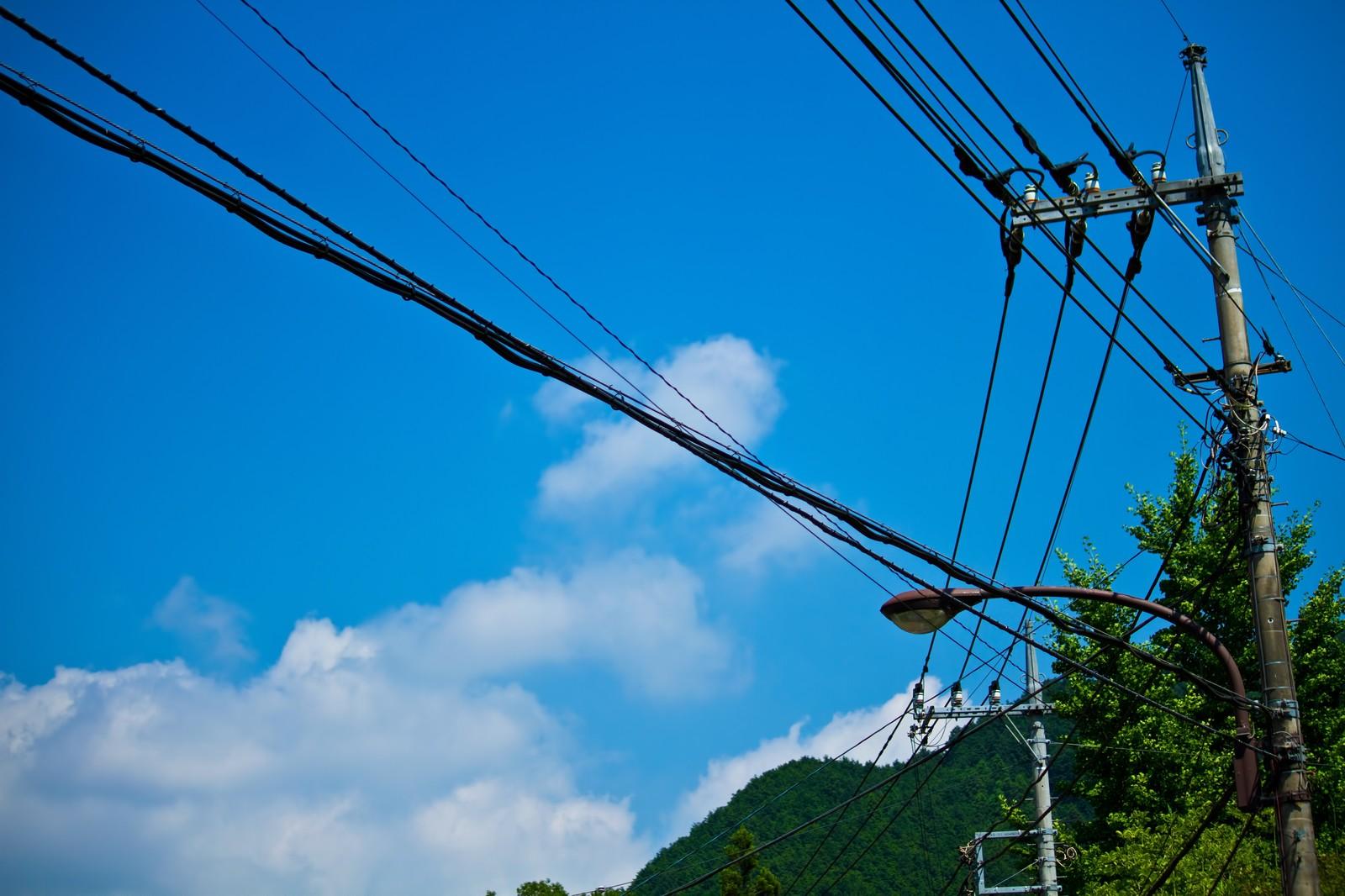 日本の夏の青空
