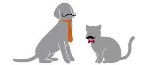 謙虚犬とクズ猫
