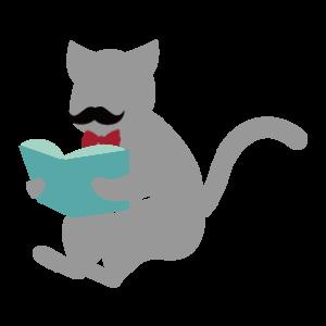 本を読むクズ猫